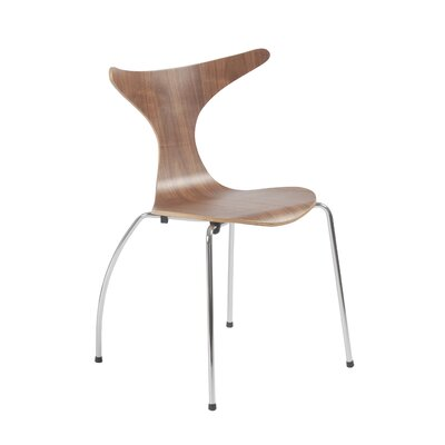 Merope Side Chair Upholstery: Walnut