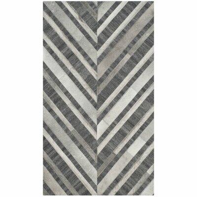 Sevastopol Hand-Woven Ivory/Dark Gray Area Rug Rug Size: 4 x 6