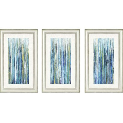 3-Piece Greencicles Framed Painting Print Set