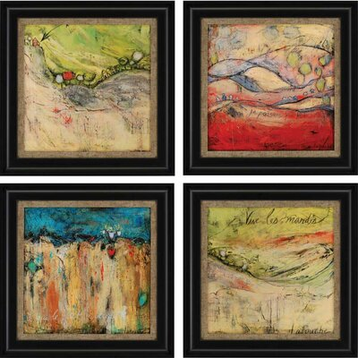 4-Piece Passing Framed Painting Print Set