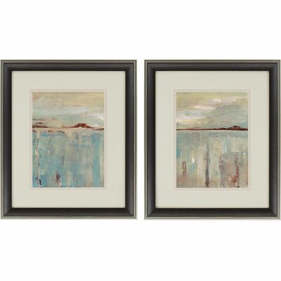 'Horizon' 2 Piece Framed Painting Print Set