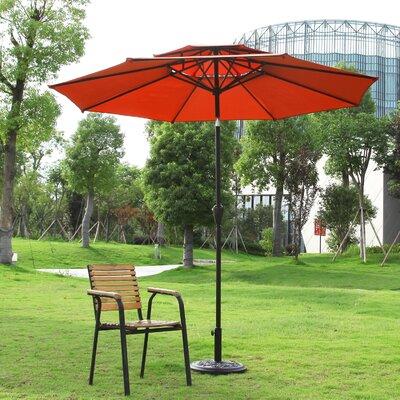 Dimond 9 Market Umbrella Fabric: Orange