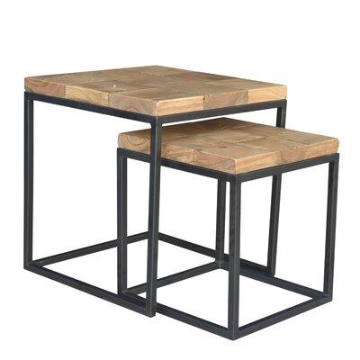 Cowans 2 Piece Nesting Tables Finish: Black