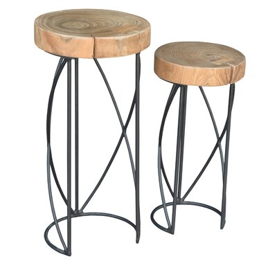 Gayle 2 Piece Nesting Tables Finish: Black