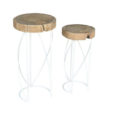 Gayle 2 Piece Nesting Tables Finish: White