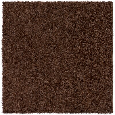 Mchaney Hand-Tufted  Brown Area Rug Rug Size: Square 8