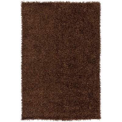 Mchaney Hand-Tufted  Brown Area Rug Rug Size: Round 6