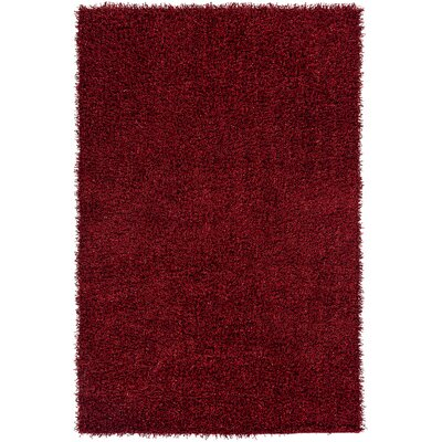 Mchaney Hand-TuftedRed Area Rug Rug Size: Rectangle 4 x 6