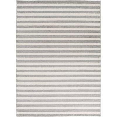 Eridani Ivory/Gray Area Rug Rug Size: 53 x 73