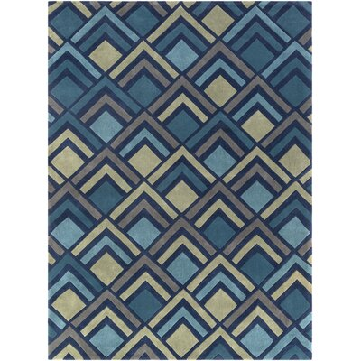 Mcgray Hand-Tufted Navy Area Rug Rug Size: Rectangle 8 x 11