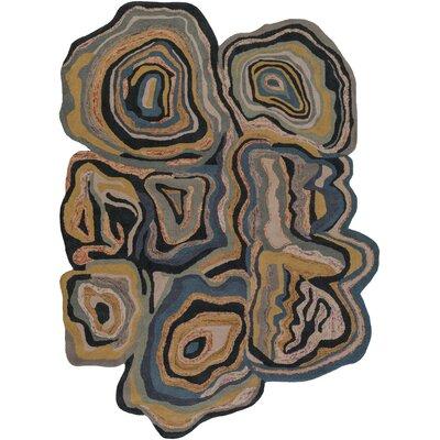 Ramsay Brown Geometric Area Rug Rug Size: Rectangle 8 x 11