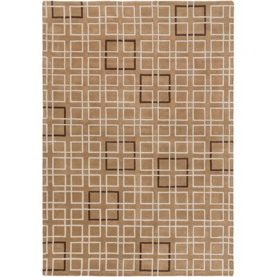 Ozuna Taupe Geometric Area Rug Rug Size: Rectangle 9 x 13