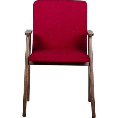 Tuel Arm Chair Upholstery Color: Red