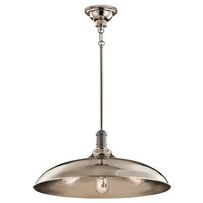 Ginyard 3-Light Bowl Pendant Finish: Polished Nickel