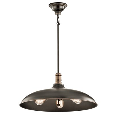 Ginyard 3-Light Bowl Pendant Finish: Olde Bronze