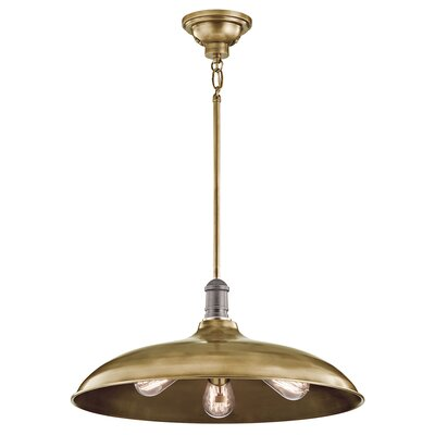 Ginyard 3-Light Bowl Pendant Finish: Natural Brass