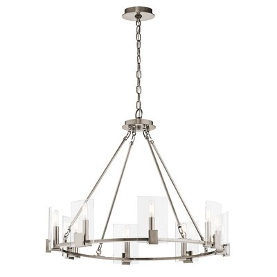 Bakken 8-Light Candle-Style Chandelier Finish: Classic Pewter