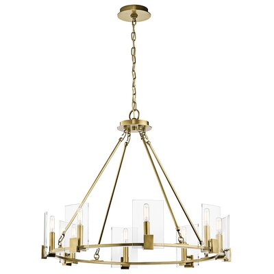 Bakken 8-Light Candle-Style Chandelier Finish: Natural Brass