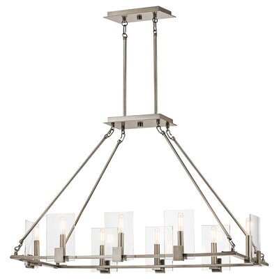 Earnhardt 8-Light Kitchen Island Pendant Finish: Classic Pewter