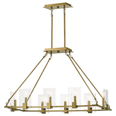 Earnhardt 8-Light Kitchen Island Pendant Finish: Natural Brass