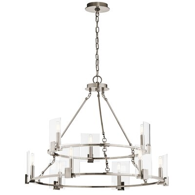 Domenech 9-Light Candle-Style Chandelier Finish: Classic Pewter