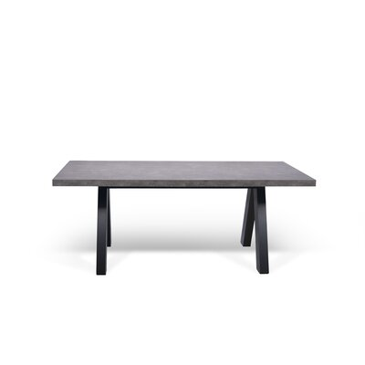 Opperman Dining Table Base Finish: Black, Top Finish: Concrete