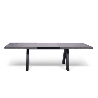 Opperman Extendable Dining Table Base Finish: Black, Top Finish: Black
