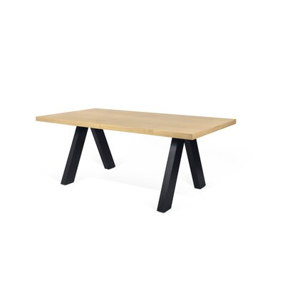 Opperman Extendable Dining Table Base Finish: Black, Top Finish: Beige