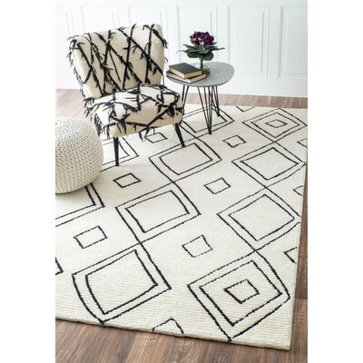 Musselman Hand-Tufted Natural Area Rug Rug Size: 5 x 8