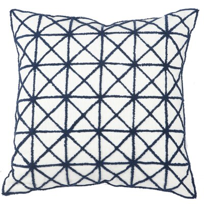 Vanleuven Embroidered Cotton Throw Pillow