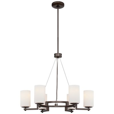 Oliveras 6-Light Shaded Chandelier