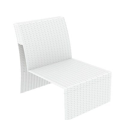 Vedder Extension Part Sectional Seating Group with Cushion Finish: White