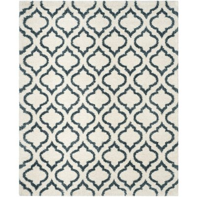 Melvin Shag Beige/Blue Area Rug Rug Size: Rectangle 6 x 9
