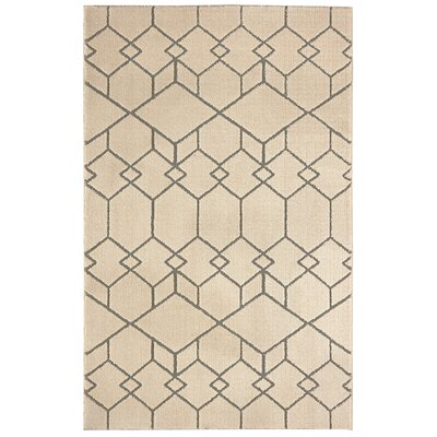 Nickson Interlocking Blocks Gray/Cream Area Rug