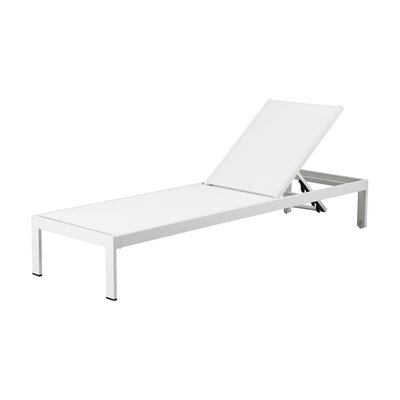 Belterra Chaise Lounge Fabric: White