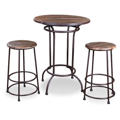 Velazquez 3 Piece Pub Table Set