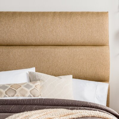 Lytle Upholstered Panel Headboard Size: Full, Upholstery: Golden Brown