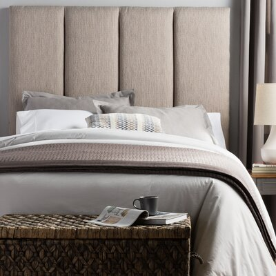 Lytle Upholstered Panel Headboard Size: Full, Upholstery: Grey