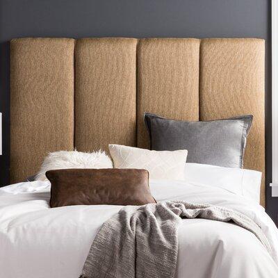 Lytle Upholstered Panel Headboard Size: Full, Upholstery: Golden Brown