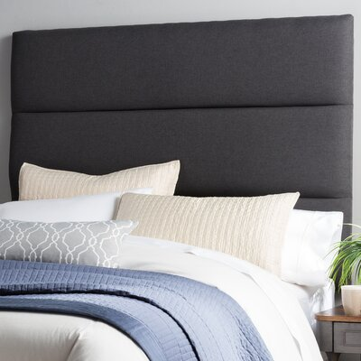 Lytle Upholstered Panel Headboard Size: Queen, Upholstery: Charcoal Gray