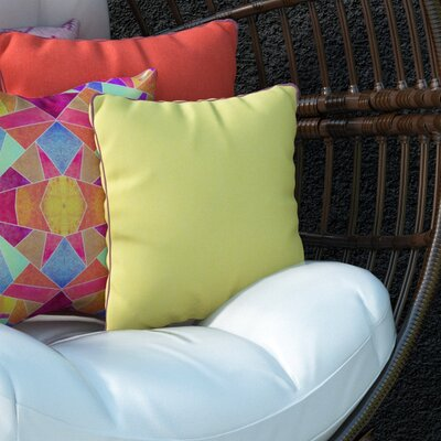 Mowery Outdoor Throw Pillow Size: 20 H x 20 W x 4 D, Color: Lime