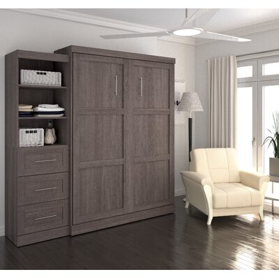 Walley Murphy Bed Size: Queen, Finish: Bark Gray