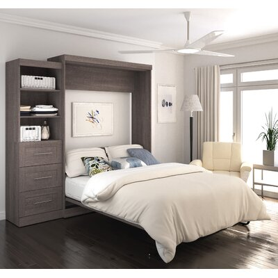 Walley Murphy Bed Color: Bark Gray, Size: Queen