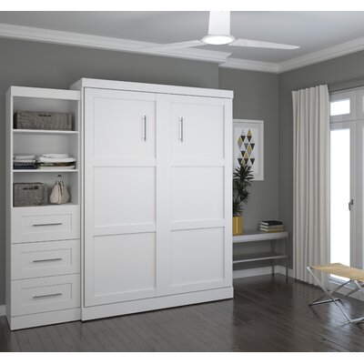 Walley Murphy Bed Color: White, Size: Queen