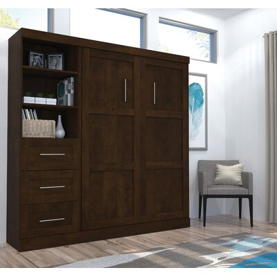 Walley Murphy Bed Finish: Chocolate, Size: Full