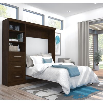 Walley Murphy Bed Color: Chocolate, Size: Full