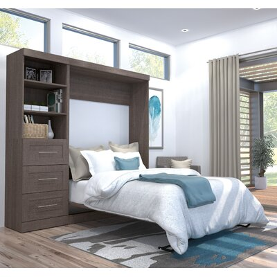 Walley Murphy Bed Color: Bark Gray, Size: Full