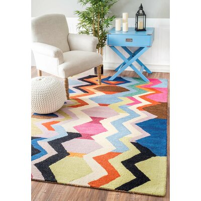 Morelli Hand-Tufted Area Rug Rug Size: Rectangle 76 x 96
