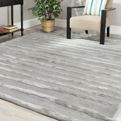 Avonmore Grey Area Rug Rug Size: Square 8