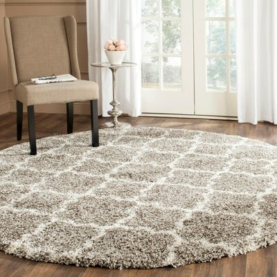 Lucina Shag Gray Area Rug Rug Size: Square 5
